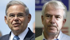 Bob Menendez and Bob Hugin.