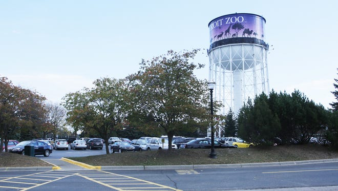 As the Detroit's Zoo grows with the addition of the  new Polk Penguin Conservation Center more parking is expected and possibly this  area around the tower will become a parking deck. The new facility is expected to open to the public in early 2016. Photographed Tuesday, Oct. 20, 2015.