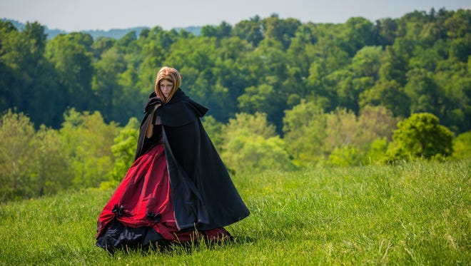 Serafina wears her black cloak during the production of a promotional trailer for the book on Biltmore Estate last year.