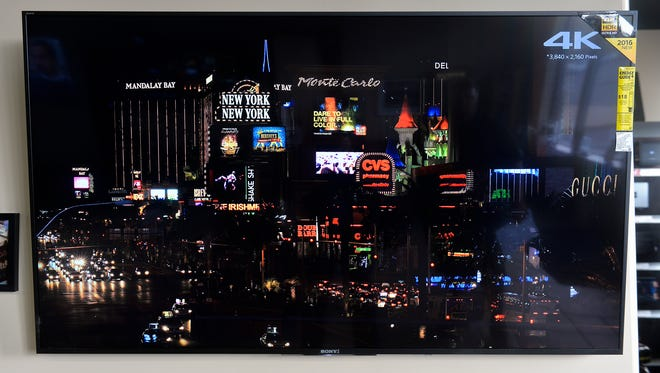 A 65-inch Sony XBR HDR 4K television sells for $1,800 at Audio Video Extremes Wednesday, Oct. 19 in Waite Park.
