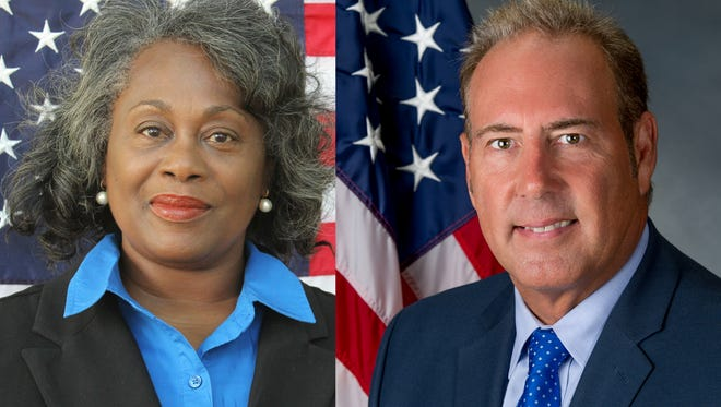 Challenger Ann Lewis and incumbent Joseph Robach are vying for the 56th State Senate Seat