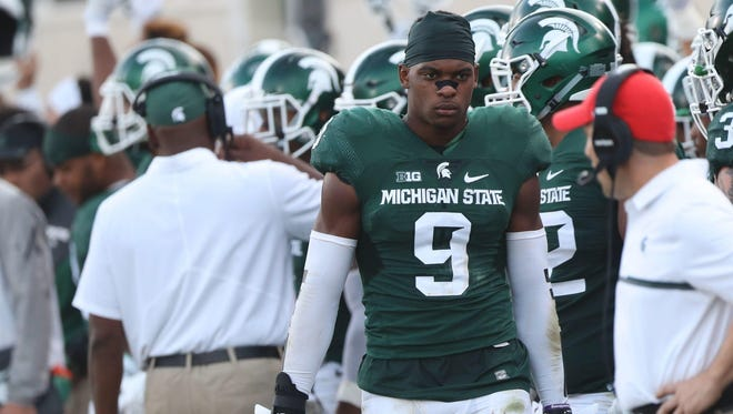 S Montae Nicholson. Projected round: 4-7. He left after his junior year at MSU. He tested well at the combine, but did not take part in the bench press and then underwent surgery to repair a torn labrum in his shoulder that he played through last fall. That could make teams leery of taking him before the third day.