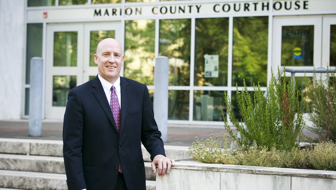 Marion County District Attorney Walt Beglau outside of the Marion County Courthouse on Tuesday, Sept. 12, 2017.