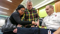 The spate of deadly mass shootings has spurred a public outreach program that teaches everyday people how to stop life-threatening bleeding.