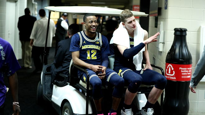 Muhammad-Ali Abdur-Rahkman, left, and Moritz Wagner are two of the few Wolverines who likely won't return next season.