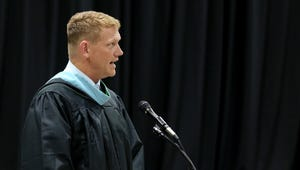 Principal Erik Jespersen speaks during the McNary High School commencement at the Oregon State Fairgrounds in Salem on Friday, June 8, 2018.
