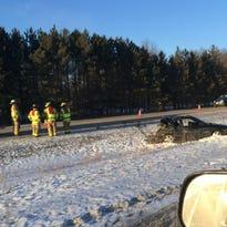 Traffic flows near the scene of fatal crash