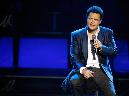 A file photo of Donny Osmond performing in the Donny & Marie variety show at the Flamingo Las Vegas December 3, 2008 in Las Vegas, Nevada.