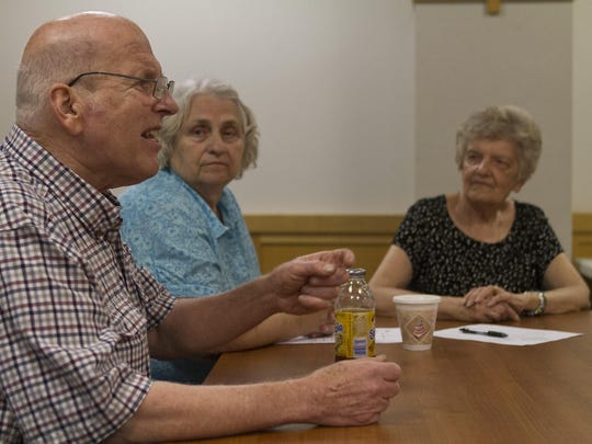 Brain Cancer survivor Joe Quinn and his wife Ellen participate in a support group at Ocean Medical Center in Brick NJ on June 11, 2015.