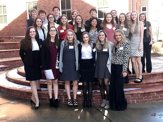 Members of the Calico Rock High School FBLA Chapter who competed at the District VI Spring Conference were: (first row, from left) Abby Humphries, Jaclyn Hamby, Megan Hiles, Kenlee Killian, Madison Deen, Morgan Wood, (second row) Emma Mitchell, Hannah Davis, Chase Fountain, Chase Cottrell, Julisa Mendez, Keeley Pool, Anna Kearbey, Jacie Parnell, Cole Whiteaker, Cade Whiteaker, Connor Sanders, Holly Lovan, Joe Grigg, Kachina McDole, Kaitlyn Russell and Sarah Colbert. Not pictured: Kallie Fry and Sydney Brown.