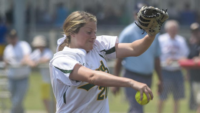 Menard sophomore pitcher Jensen Howell was named the Outstanding Player on the Class 2A all-softball team after going 13-3 with a 0.80 ERA, including four straight postseason shutouts to lead the Eagles to the state title.