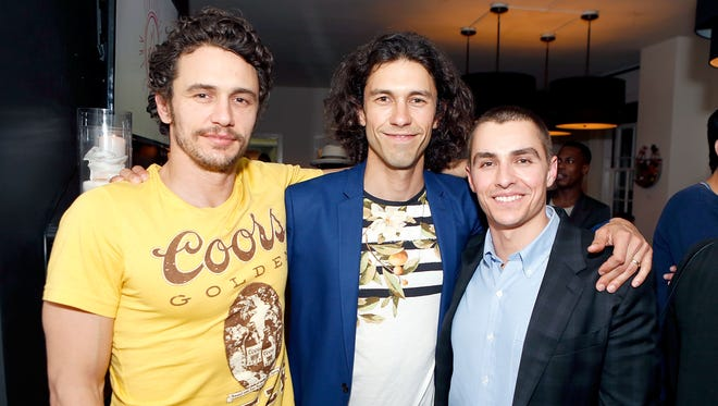 James Franco, Tom Franco and Dave Franco attend the Art of Elysium presents Tom Franco at the art salon on May 7, 2016, in Los Angeles.