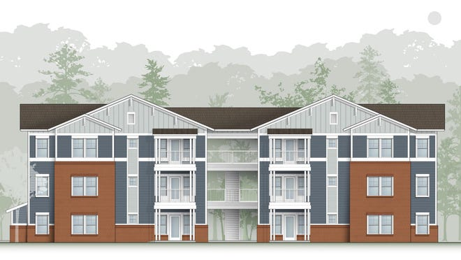 An artist's rendering shows units at the planned Carolina Avenue Apartments affordable housing complex in New Bern. Construction on the $13 million project will begin this summer, with the first buildings anticipated to be ready in late summer or early fall of 2021.
