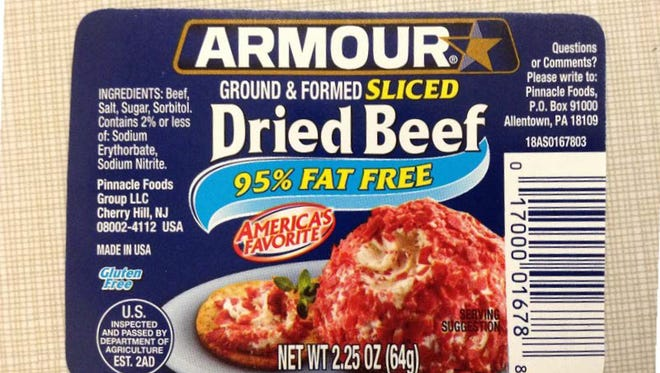 Pinnacle Foods is recalling two Armour Star dried beef products due to possible contamination.