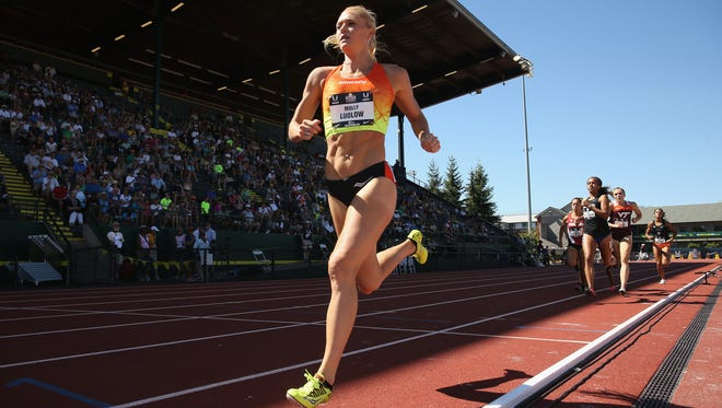 EUGENE, OR - JUNE 25:  Molly Ludlow competes in the Womens 800 Meter preleminaries during day one of the 2015 USA Outdoor Track & Field Championships at Hayward Field on June 25, 2015 in Eugene, Oregon.  (Photo by Andy Lyons/Getty Images)