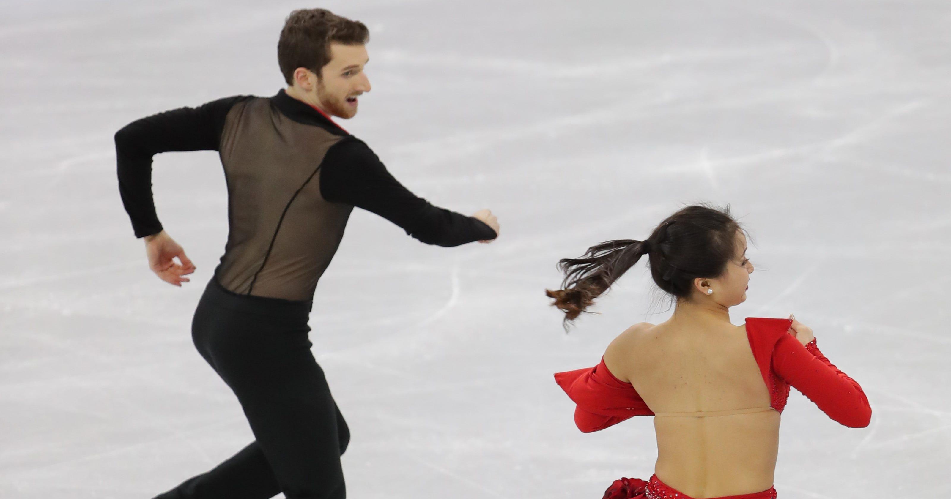 Winter Olympics Yura Min S Costume Malfunction Nearly
