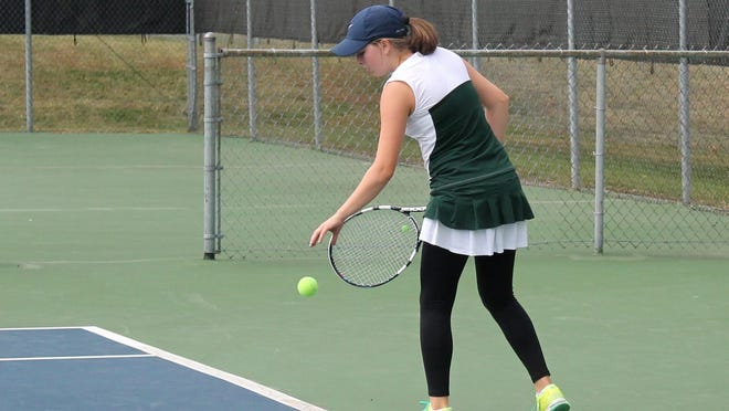 Springfield Catholic sophomore Anna Rader took fifth place in the Class 1 singles tournament on Saturday.