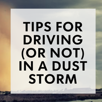 Safety tips for driving (or not) in a dust storm