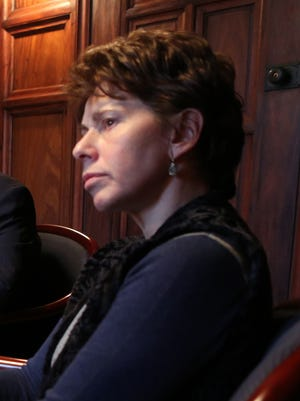 Regents Chancellor Merryl Tisch, in 2014, as state-appointed fiscal monitor Hank Greenberg reported on the East Ramapo school district.