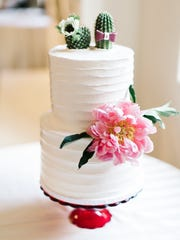 A wedding cake by Ruze Cake House.