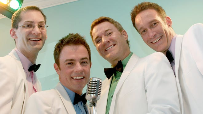 Four Guyz In Dinner Jackets will be performing Friday, April 13, at the South Milwaukee Performing Arts Center.