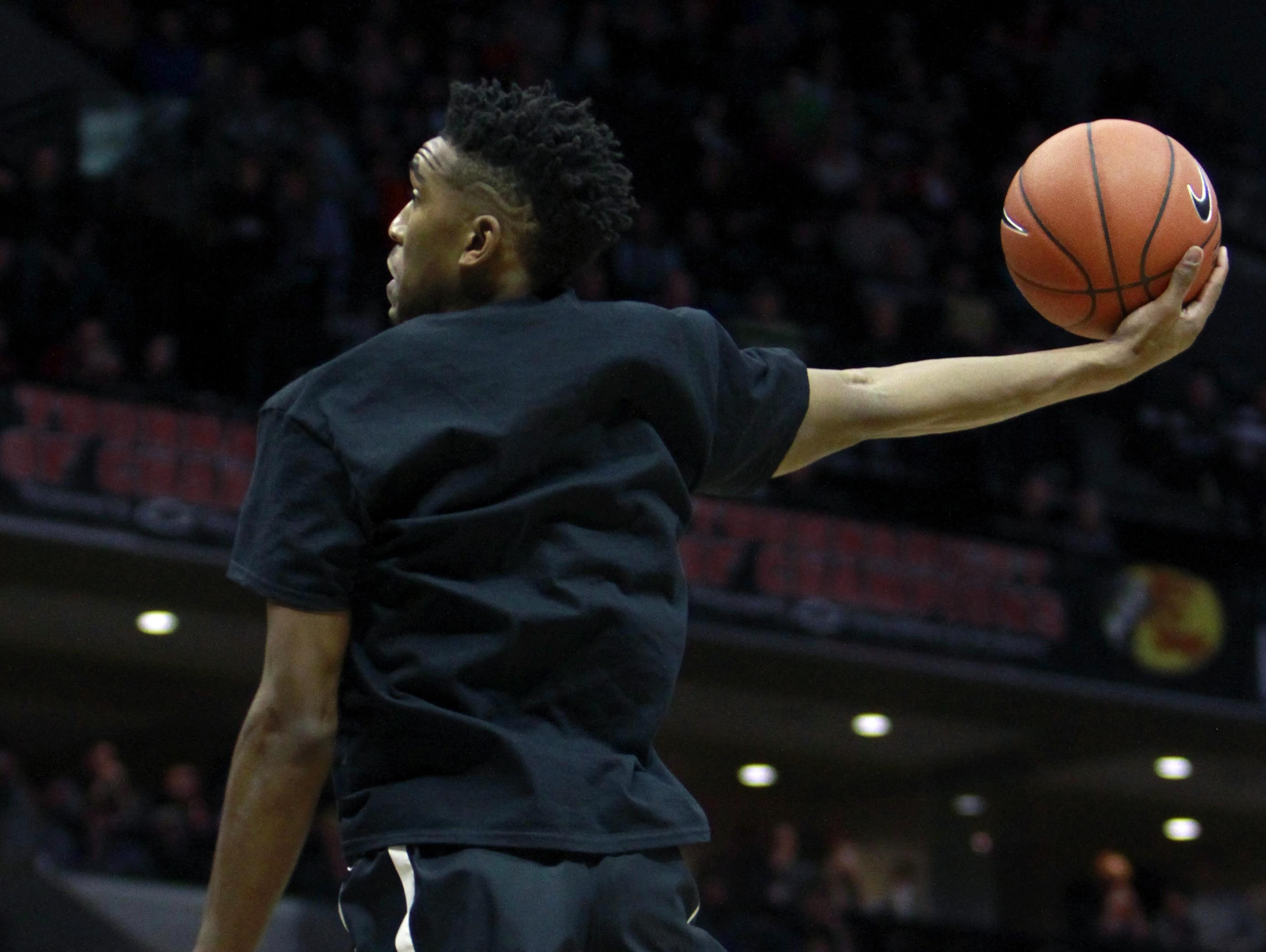 University of Kentucky guard Malik Monk won the inaugural slam dunk contest at the 2015 Bass Pro Tournament of Champions while a junior at Bentonville (Bentonville, Arkansas).