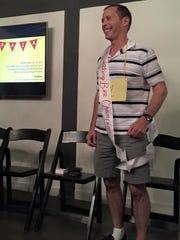 Michael Petrina at the AAJA Arizona Spelling Bee for Adults.