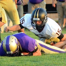 Fowlerville had to hold on late for a 28-27 win on the road at Dexter in its season opener Thursday night.