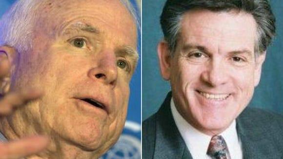 Sen. John McCain, left, and A.J. LaFaro