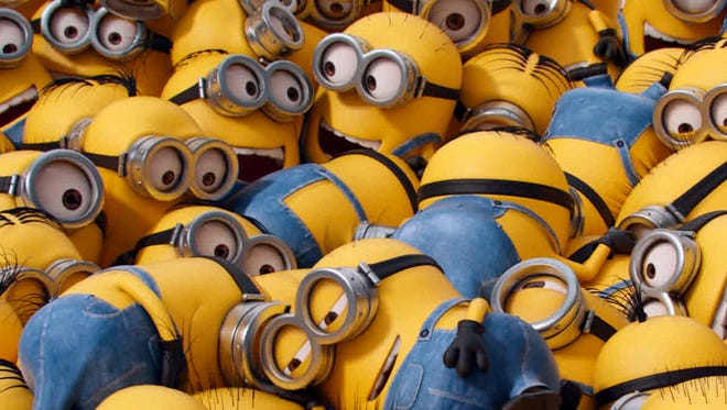 The gibberish-spouting henchmen of ''Minions' had a huge box-office outing in their debut weekend.