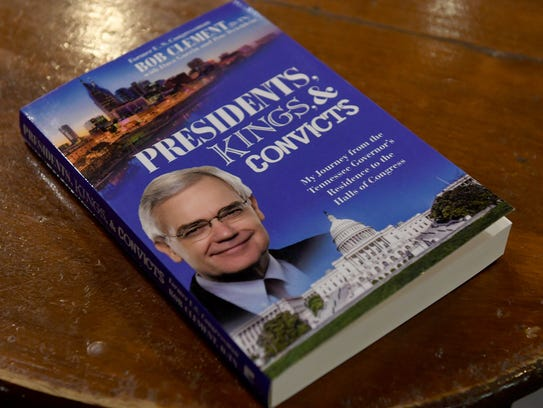 Former U.S. Congressman Bob Clement (D-TN) held a book