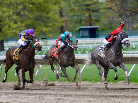 White Bluff, ridden by Andel Arroyo, won the second