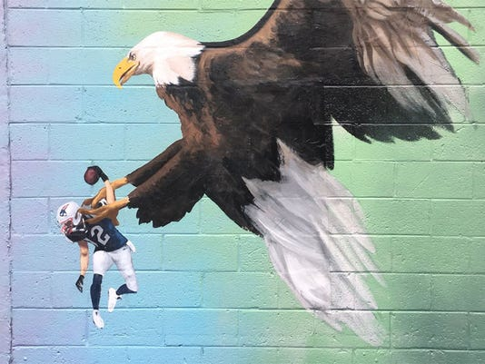 Philadelphia mural of eagle clutching Tom Brady could become permanent