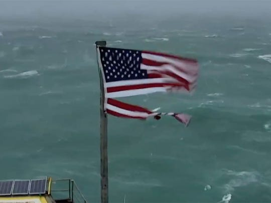 Hurricane Florence: See a live feed of the storm from an ocean webcam