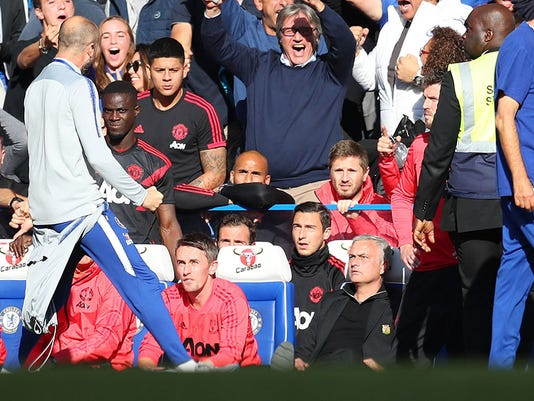 Twitter reacts to Jose Mourinho's dramatic scuffle with Chelsea coach