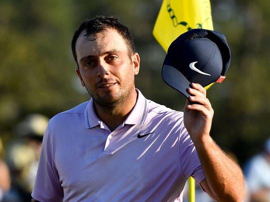 Francesco Molinari leads the Masters entering the final round.