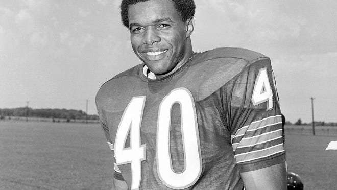 Gale Sayers became a stockbroker, sports administrator, businessman and philanthropist for several inner-city Chicago youth initiatives after his pro football career was cut short by serious injuries to both knees.