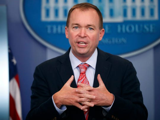 File photo shows federal Budget Director Mick Mulvaney,