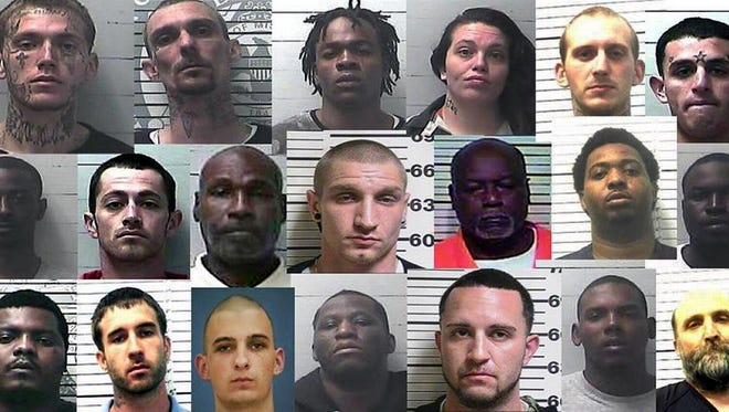 This compilation by the Sun Herald shows accused and convicted gang members in South Mississippi over the past few years.