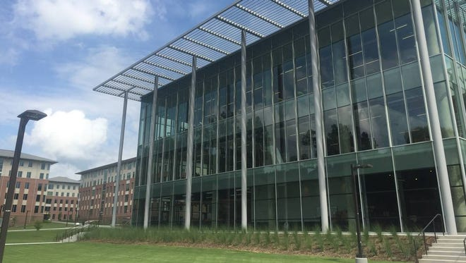 """The center of Clemson University's Douthit Hills complex is referred to as """"the Hub."""" As of July 20, it's on track to be open next month for move-in."""