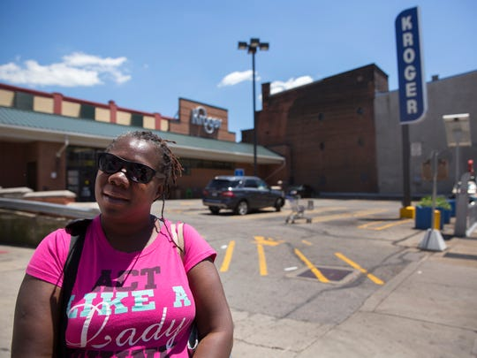 Brenda Simms of Over-the-Rhine talks about the eventual closing of the Vine Street Kroger in OTR. Kroger has announced it will soon break ground on a new store Downtown on Walnut, between Court Street and Central Parkway. Simms said she's looking forward to the new store, which will be two levels and should open in the summer of 2019.