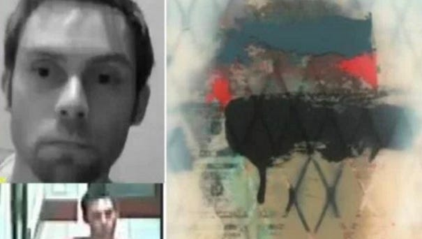 CrimeStoppers released this image a suspect (left) in the theft of a painting (right) from the Conrad Hotel.