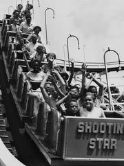 The Shooting Star wooden roller coaster is said to