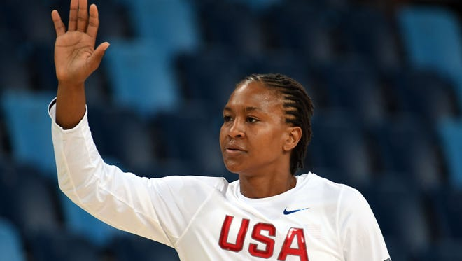 Tamika Catchings said goodbye to the Olympics after four gold medals in basketball.