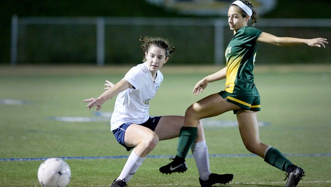 Roberson's Hope Ingram, left, and Reynolds' Pali Smith are both members of the Citizen-Times All-WNC Girls Soccer team.
