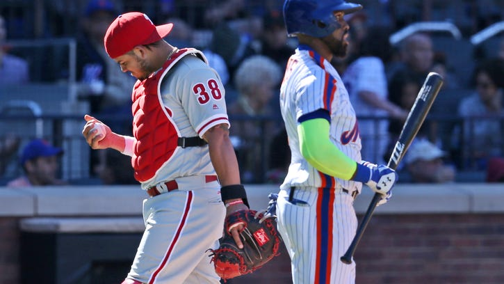 Thompson's season done after Mets pound Phillies 17-0
