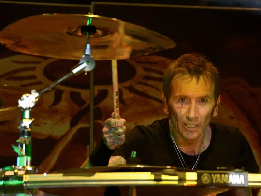 Drummer Shannon Larkin of Godsmack performs during the Las Rageous music festival at the Downtown Las Vegas Events Center in 2017. Godsmack will play Thursday night at Rock USA in Oshkosh.