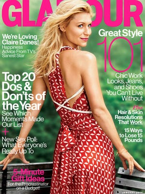 Claire Danes graces 'Glamour's January cover.