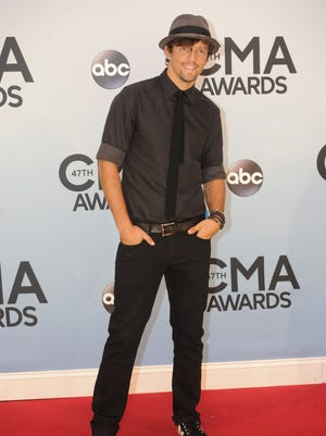 Jason Mraz on the Red Carpet at the 47th Annual CMA Music Awards last year at the Bridgestone Arena in Nashville, Tenn,