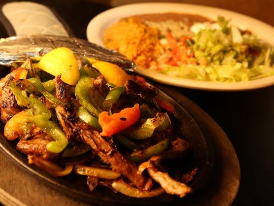Steak fajitas from Tacos Andreas.